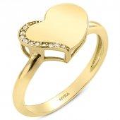 Myra Gold Kalp Figürlü Altın Yüzük