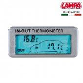 Lampa İç Dış Termometre Mavi Ekranlı 86316