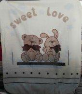 özdilek Bear And Rabbit Bebek Battaniyesi