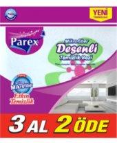 Parex Mikrofiber Desenli Temizlik Bezi 3lü