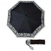 Tasarım Sol Anahtarlı Cep Şemsiye Siyah