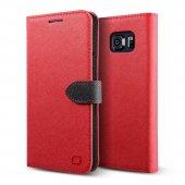 Lıfıc Galaxy Note 5 Saffiano Diary Kılıf Red