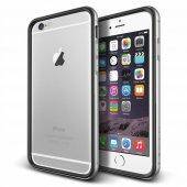Verus İphone 6 Plus 6s Plus Iron Bumper Kılıf Black Silver