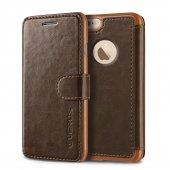 Verus İphone 6 6s 4.7 Wallet Layered Dandy Dark Brown