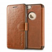 Verus İphone 6 Plus Wallet Layered Dandy Diary Brown Dark Brown