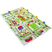 Ivi 160x230 Trafik Yeşil Çocuk Odası Oyun Halısı
