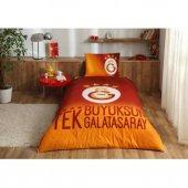 Taç Lisanslı Galatasaray 4 Yıldız Tek Kişilik Yatak Örtüsü Seti