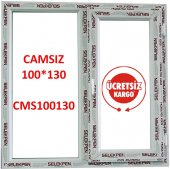 100x130 Pencere Camsız
