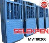 80x200 Mavi Tek Saç Demir Kapı Camsız