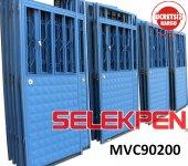 90x200 Mavi Çift Saç Demir Kapı Camsız