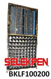 100x200 Baklava Ferforje Demir Kapı Camsız
