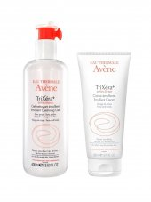 Avene Eau Thermale Trixera Selectiose Cream 200 Ml+ Trixera Selectiose Emollient Cleasing Gel 400 Ml