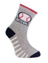Baseball Soket Çorap Gri Melanj