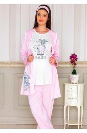 Bh2913 Baha 3lü Lohusa Pijama Takımı