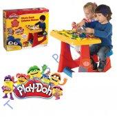 çocuk Ders Çalışma Masası Eğitici 22 Parça Play Doh Masa Sandalye