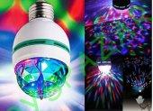 Renkli Gece Işık Disko Led Ampul Döner Gece Lamba