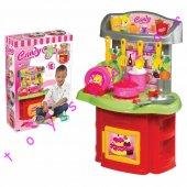 Oyuncak Candy Şef Mutfak Seti Ocak Fırın Oyuncak Set