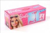 Scoter Barbi Kız Çocuk 3 Tekerli, Barbie Kask