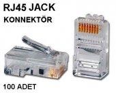 Rj45 Jack Rj 45 Jak Uç 100 Adet Network 4220p Cat5e İnternet