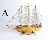 Yelkenli Ahşap Gemi Maketi (40407)