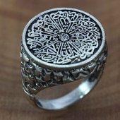 925 Ayar Gümüş Erkek Yüzük İhlas Yazılı Oksitli
