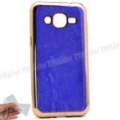 Samsung Galaxy J2 Çift Renkli Silikon Kılıf Mavi