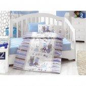 Cotton Box Ranforce Bebek Nevresim Takımı 100 Pamuk Midilli Mavi