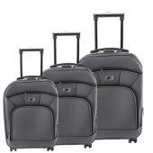 ççs 501 Trolley Kumaş Valiz Bavul Seti Gri