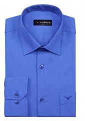 Buenza Coton Uzun Kol Gomlek Mavi