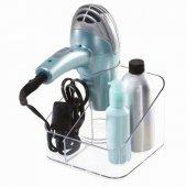 Kozmetik Ürün Ve Saç Kurutma Makinası Standı Bir Arada Düzenleyici Set