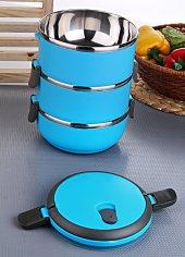 Sefer Tası Yemek Termosu Saklama Kabı Termosu 3lü Çelik