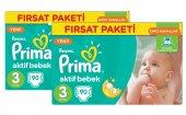 Prima Bebek Bezi Aktif Bebek 3 Beden Midi Hiper Ekonomik 2li Paket 180 Adet