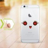 Kişiye Özel Iphone 6 6 Plus İnce Şeffaf Silikon Telefon Kapağı (Yüz Temalı 6)