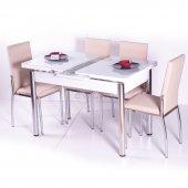 Masa Sandalye Takimi Mutfak Masası Cam Açılır Uzayan Masa