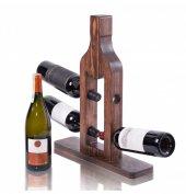 Purupa 4lü Ahşap Şarap Standı Şaraplık
