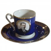 Kütahya Porselen Atatürk Kahve Fincan Takımı Kobalt