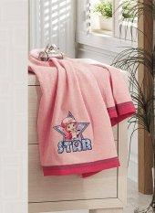 Kristal By Taç Lisanslı Boy Banyo Havlu Çilek Kız