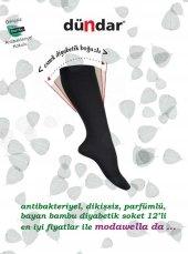 Dündar Diyabetik Bambu Bayan Soket 12 Li Çorap