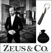 Zeus&co. 1 Taraflı 2 Halkalı Deri Anahtarlık Hediye Kesesi İçinde