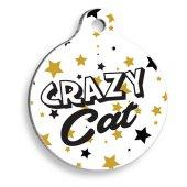Pet Tag Art Kaçık Kedi Yuvarlak Kedi Künyesi