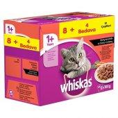 Whiskas Pouch Multipack Etli Çeşitleri Yaş Kedi Maması