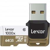 Lexar 64gb Micro Sd Hafıza Kartı 1000x 4k C10 U3 U...