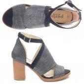 Perim 36020 Kare Topuk Bayan Ayakkabı