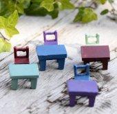Peyzaj Ve Foto Çekimi İçin Masa Ve Sandalye Minyatür