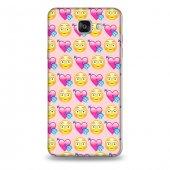 Samsung A7 2016 Kılıf Şaşkın Aşık Smiley Desenli Kılıf