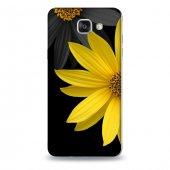 Samsung A7 2016 Kılıf Sarı Siyah Çiçek Desenli Kılıf