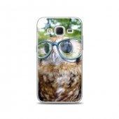 Samsung Core Prime Kılıf Gözlüklü Baykuş Desenli Kılıf