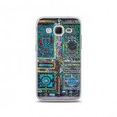 Samsung Core Prime Kılıf Renkli Kapı Desenli Kılıf