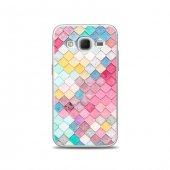 Samsung Core Prime Kılıf Renkli Baklava Dilimleri Desenli Kılıf
