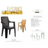 4 Adet Elegan Sandalye (Kahverengi Renk)